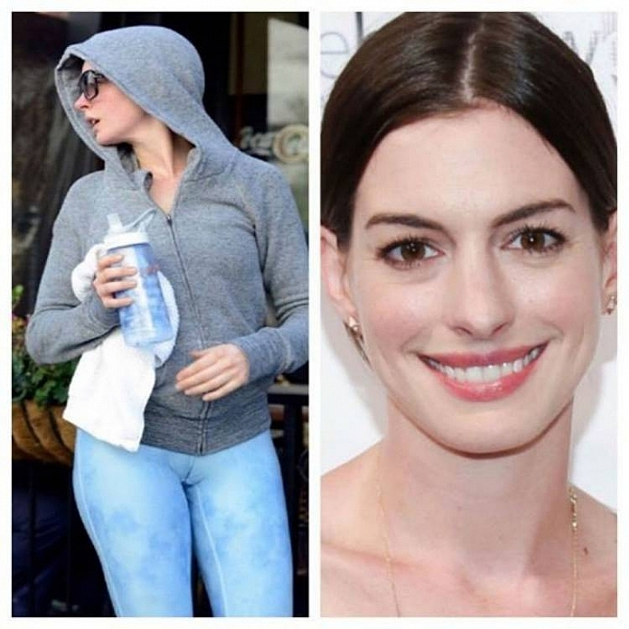 Anne Hathaway - Celebrities Who Took Yoga Pants A Bit Too Far