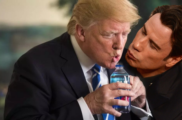 Trump Awkward Drinking Water Moment At Press Conference Sparks Memes