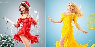 AurumLight Creates Epic 2018 Calendar With Models And Milk Splashes