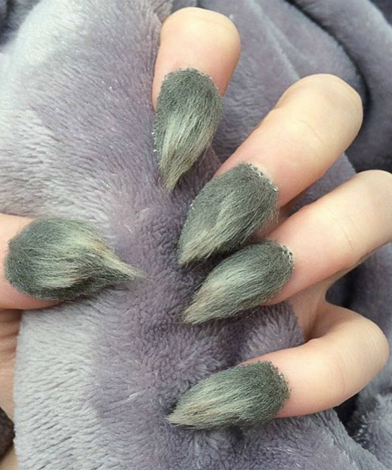 furry nails beauty trend