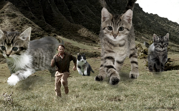 What If Cats Replaced Dinosaurs In Jurassic Park Film