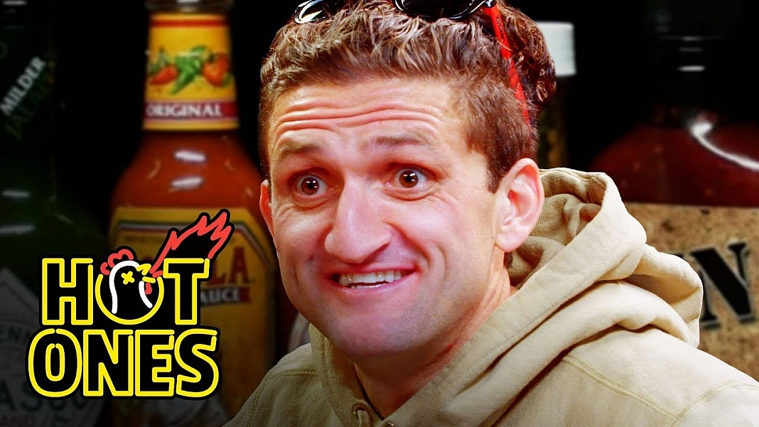 Casey Neistat Attempts The Insane Hot Wings Challenge