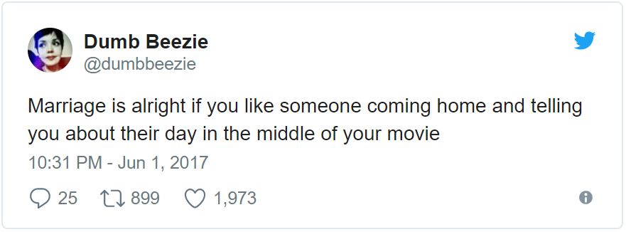 These Hilarious Marriage Tweets Totally Summed Up 2017