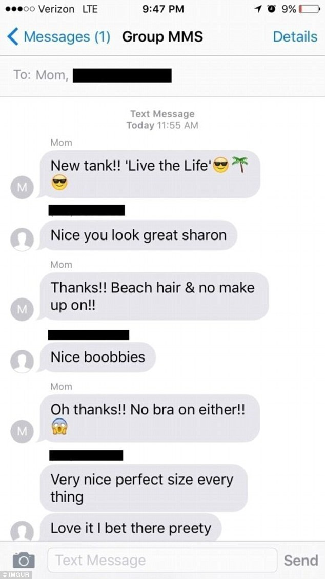 Mom Forgets Daughter Is In Group Chat Whilst Sexting Away