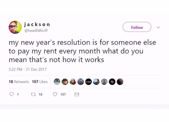 How Many Of These New Year Resolutions You Can Relate To