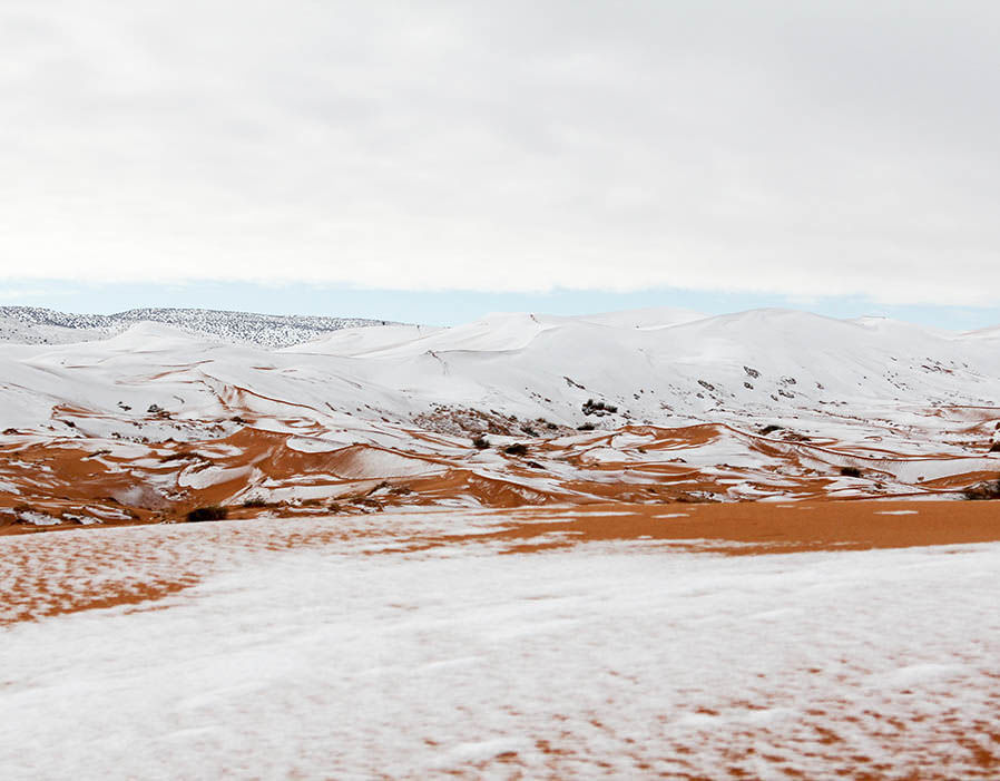 This Is What The Sahara Desert Looks Like Covered In Snow