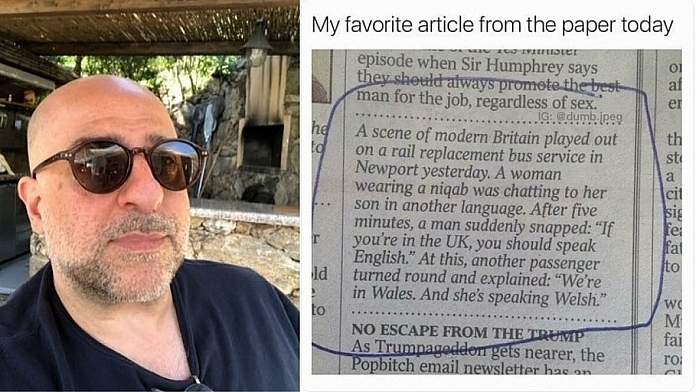 Omid Djalili Reignites 'Scene Of Modern Britain' Story And Goes Viral Again