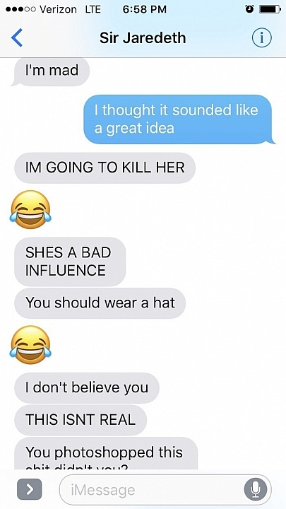Boyfriend Loses His Shit After Girlfriend Sends Him Selfie Of Her Shaved Head