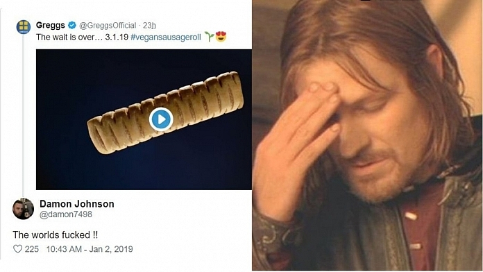 Greggs Had The Perfect Response To Guy Who Trolled It's New Vegan Sausage Roll