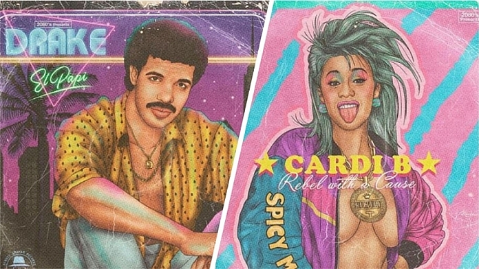 Your Favourite Celebrities Reimagined In Retro '80s Album Covers By This Talented Artist