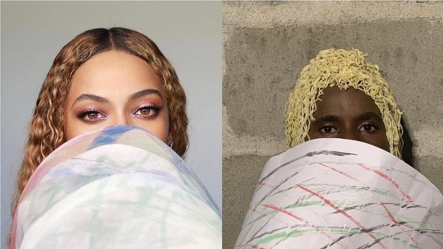 Comedian Recreates Absurd & Hilarious Celebrity Looks With Cheap Materials