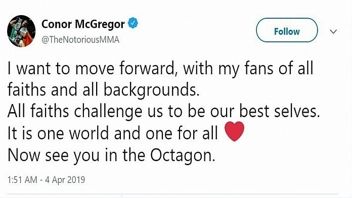 Conor McGregor Posts Cryptic Message Following His Racist Tweet Backlash