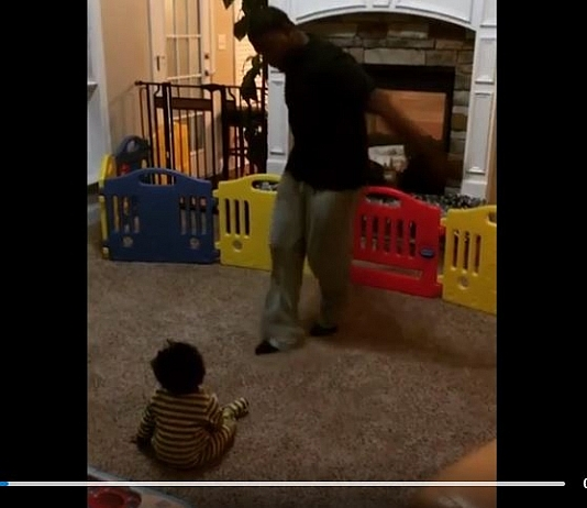 Dad Has A Dance Off With His Baby And Dad Had To Concede Defeat In Epic Video