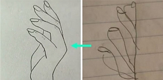 This Simple Sketch Of A Woman's Hand Is Indeed Proving Challenging For Some People