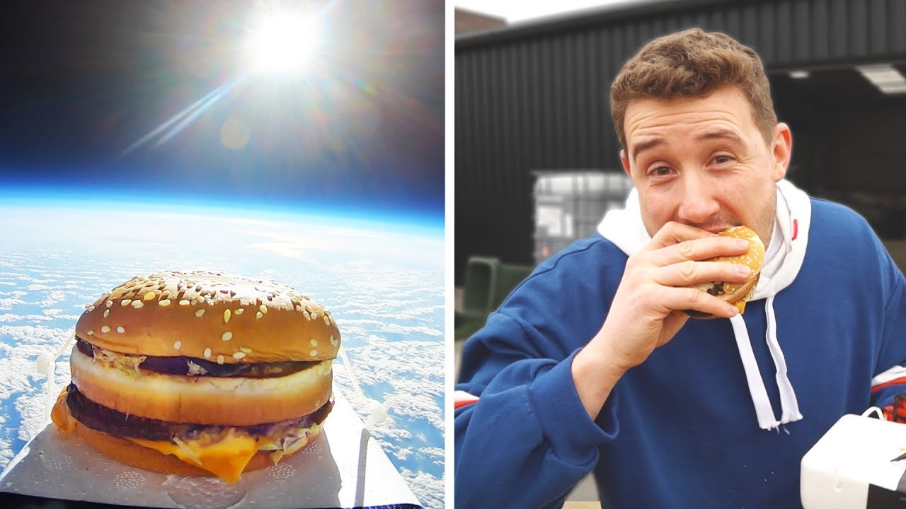 Dude Sends McDonald's Big Mac Into Space And Ate It After It Returned To Earth